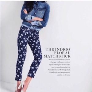 J. Crew | Floral cropped matchstick jean